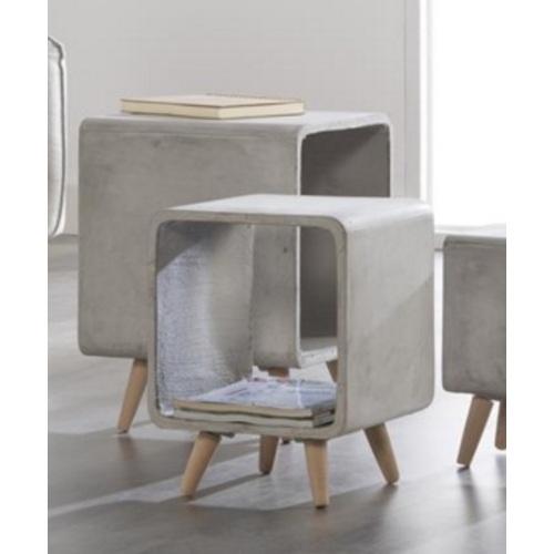 Стол журнальный Cubo-25 6340 / 48C Zijlstra серый бетон