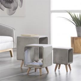 Стол журнальный Cubo-40 6342 / 48C Zijlstra серый бетон