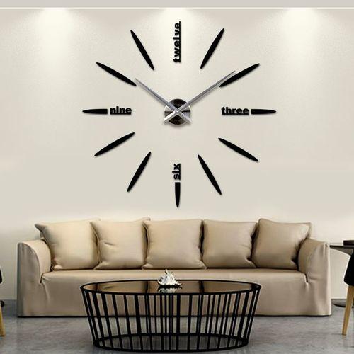 Часы настенные S012-B Ø 70-130 см Clock черные