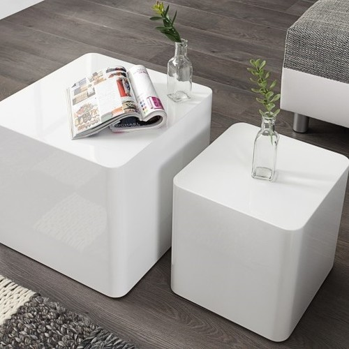 Набор столиков Shine On 2szt. белый (Z35894) Invicta