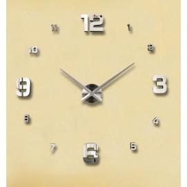 Часы настенные S005-S Ø 70-130 см серебро Clock