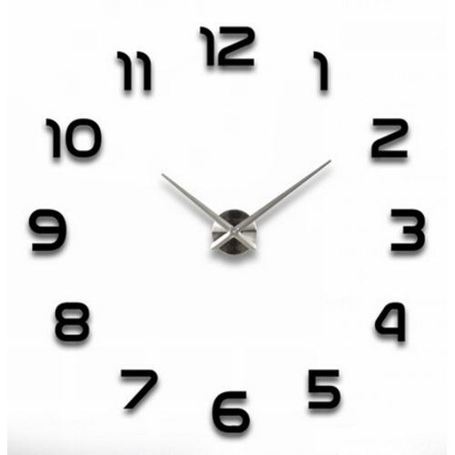 Часы настенные S002-B Ø 70-130 см Clock черные