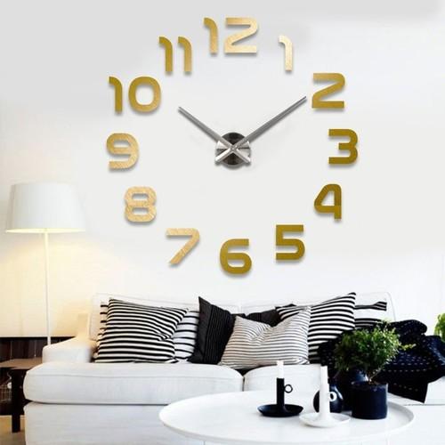 Часы настенные S002-B Ø 70-130 см Clock золото