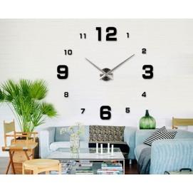 Часы настенные S005-B Ø 70-130 см черные Clock