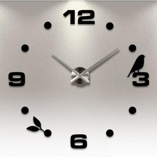 Часы настенные S006 Ø 70-130 см Clock чёрные