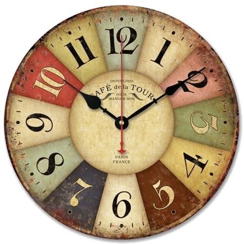 Часы настенные Тоскана d 30см Clock цветные