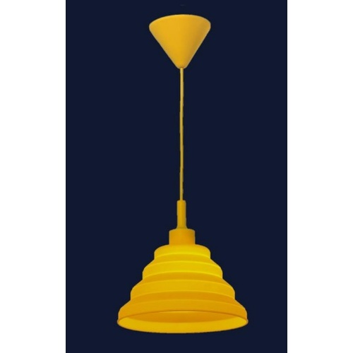 Лампа подвесная 720LS1012S-YL-1 желтая Levada