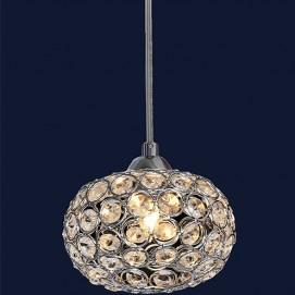 Лампа подвесная с хрусталем 712A8001 CH-CL хром Levada