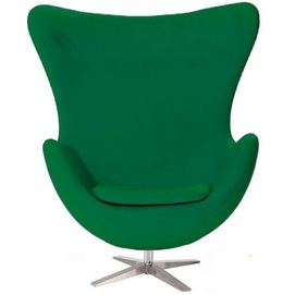 Кресло Эгг зеленое Mebelmodern ткань