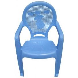 Детское кресло пластиковое Утенок голубое PAPATYА