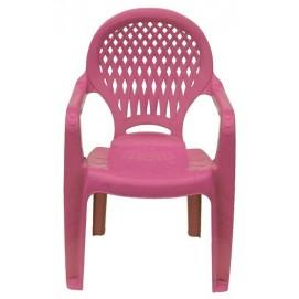 Детское кресло пластиковое Ромб розовое PAPATYА