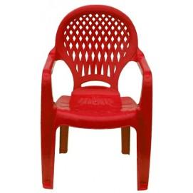 Детское кресло пластиковое Ромб красное PAPATYА