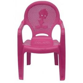 Детское кресло пластиковое Утенок розовое PAPATYА
