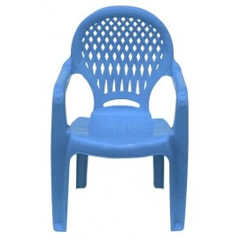 Детское кресло пластиковое Ромб голубое PAPATYА
