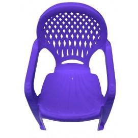 Детское кресло пластиковое Ромб фиолетовое PAPATYА