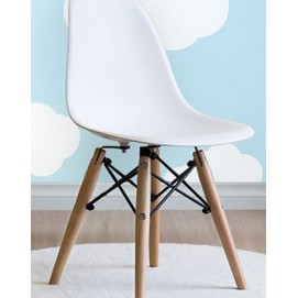 Стул Eames детский ножки деревянные белый iCOO