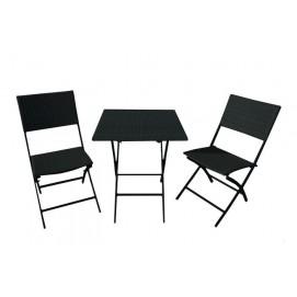 Комплект стол+2 стула черный PETRA Miloo