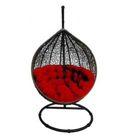 Кресло подвесное COCOON красное+черное Miloo
