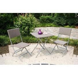 Комплект стол+2 стула серый PETRA Miloo