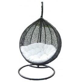 Кресло подвесное COCOON белое+черное Miloo