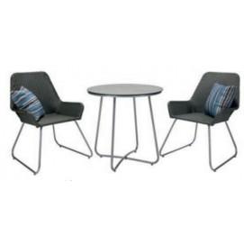 Комплект JAVA стол и 2 стула, D70xH70cм, 22119 Evelek серый