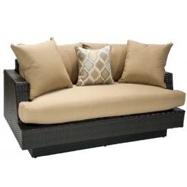 Диван TELLA 2-местный с подушкой 156,5x90,5xH72,5cм тёмно-коричневый 13149 Evelek