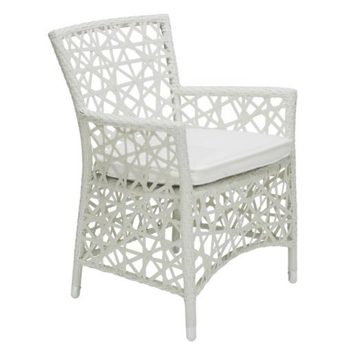 Кресло CRAZY WEAVE с подушкой белый 11778 Evelek