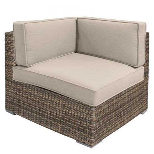 Модульный диван SEVILLA с подушками, угол, 76,5x76,5xH74,5см капучино 11916 Evelek