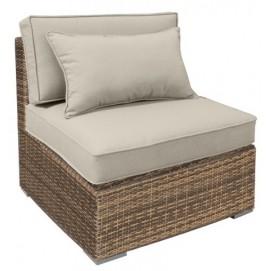 Модульный диван SEVILLA с подушками, центральная часть, 67x76,5xH74,5см капучино 11917 Evelek