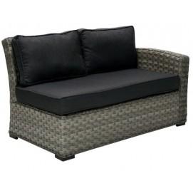 Диван угловой GENEVA с подушками, правый угол, 81x132x78см темно-серый 11903 Evelek