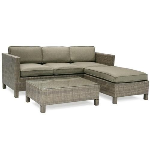 Угловой диван со столом QUEENS с подушками 12894 коричневый Garden4You