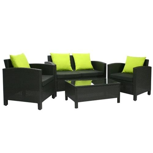 Комплект SICILIA стол, диван и 2 кресла 2764 Evelek зеленые подушки