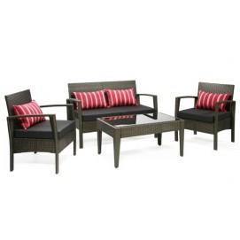 Комплект VIRGO с подушками, стол, 2 стула и диван 21057 Evelek коричневый