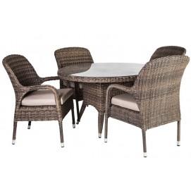 Комплект ( стол и 4 стула) Loreto 21026 Evelek натуральный