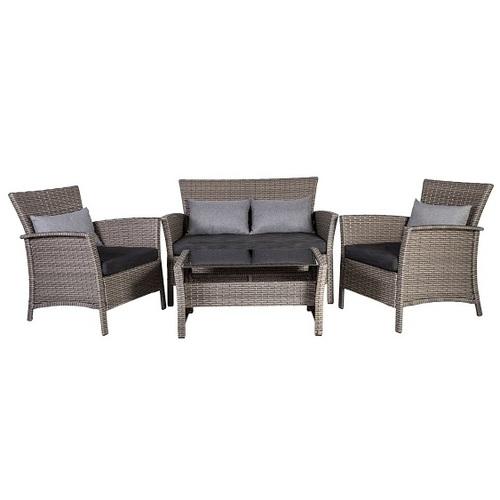 Комплект Menfi (диван+2 кресла+кофейный столик со стеклом) 21016 Evelek