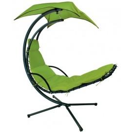 Кресло подвесное Dream с зонтиком 10023 зеленый Garden4You