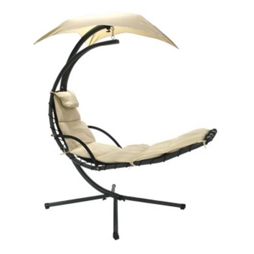 Кресло подвесное Dream с зонтиком 10024 бежевый Garden4You