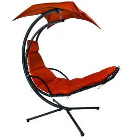 Кресло подвесное Dream с зонтиком 12976 красный Garden4You