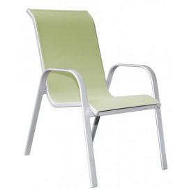 Стул из текстилайна и алюминия Detroit зеленый 22102 Evelek