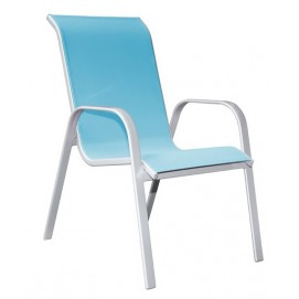 Стул из текстилайна и алюминия Detroit голубой 22102 Evelek