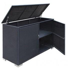 Ящик для подушек - шкаф  EASY черный 22122 Garden4You
