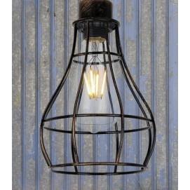 Лампа подвесная 746WXA027-1 BK+BR черная Thexata