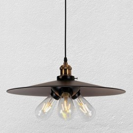 Лампа подвесная 7526856-3 BK (400) черная Thexata
