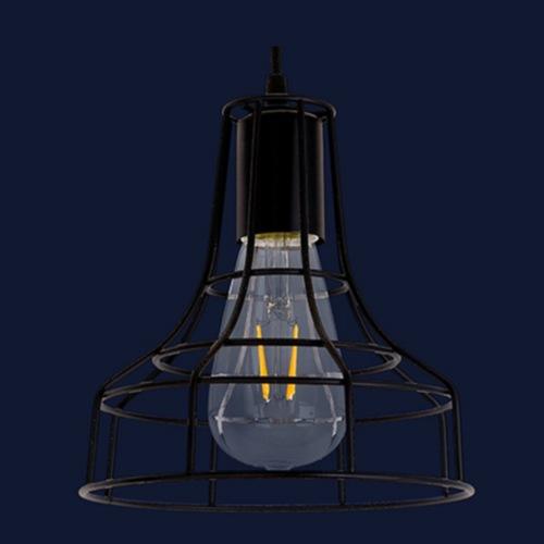 Лампа подвесная 7528876-1 BK черная Thexata