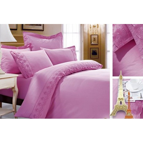 Постельное белье розовый полуторное Love You