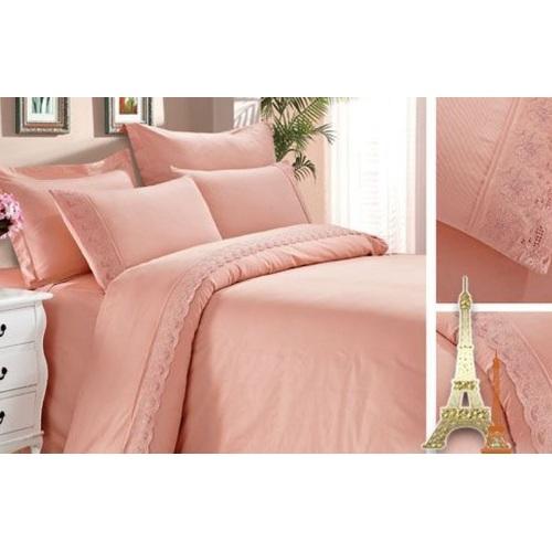 Постельное белье светло-розовая полуторное Love You