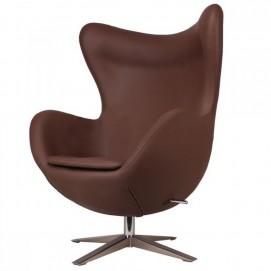 Кресло Egg кожзам коричневое Primel