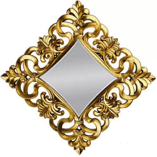 Зеркало 100*100 см VER-PU-021 K золото Glamoorzee