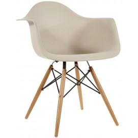 Кресло Paris бежевое Primel ноги дерево