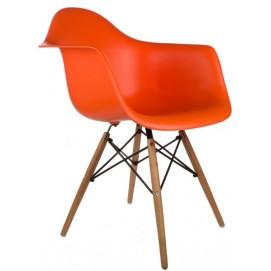 Кресло Paris оранжевый Primel ноги дерево